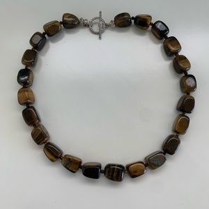 Brown Polished Stone Necklace
